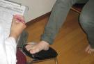 足のカウンセリング